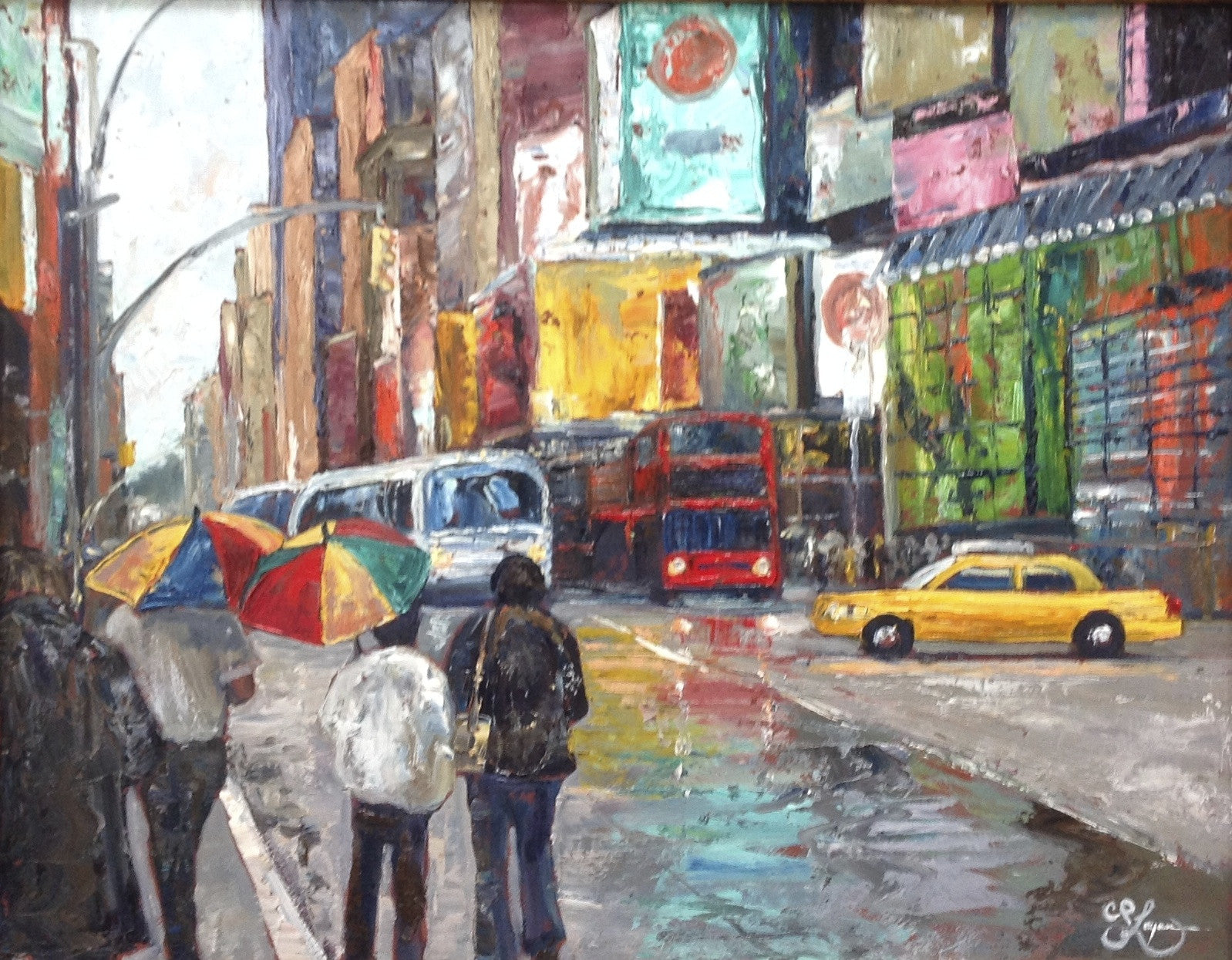 Umbrellas in Times Square - 22 x 28  800.00