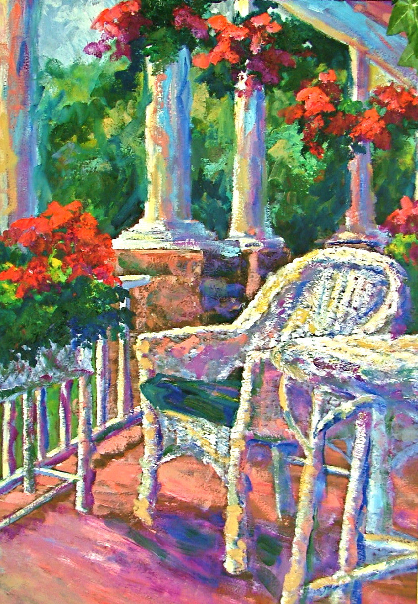 Wicker on the Porch - 36 x 24 SOLD