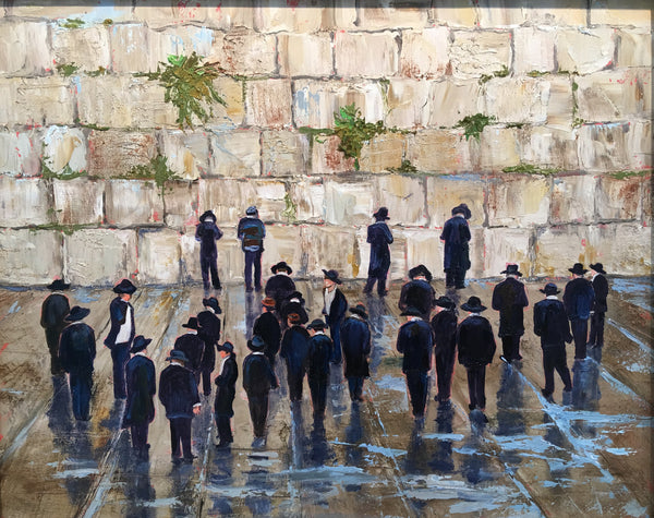 "the Wailing Wall . 16x20"" 450."