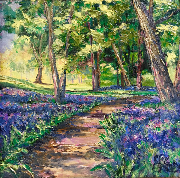 "Bluebell Path  12x12"" 350."