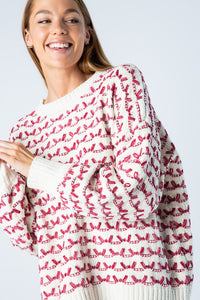 Pixy Patterned Sweater - Pink