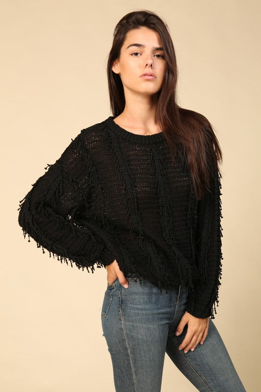 Shag Sweater - Black