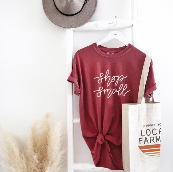 Shop Small Tee - Red