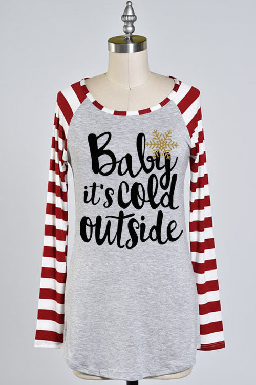 Baby It's Cold Outside Top - Anchora Bella Boutique