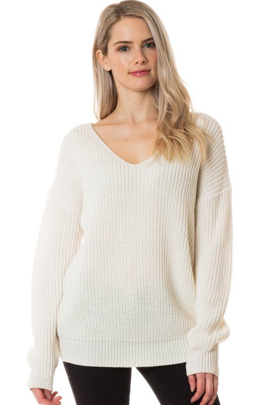 Taney Twist Sweater - Ivory