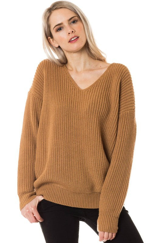 Taney Twist Sweater - Camel