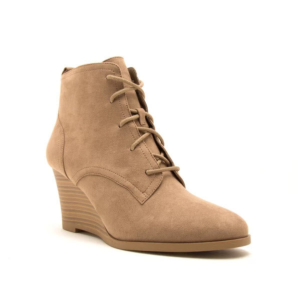 Orna Suede Booties - Taupe