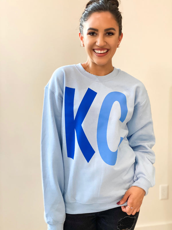 Spring Blue KC Sweatshirt