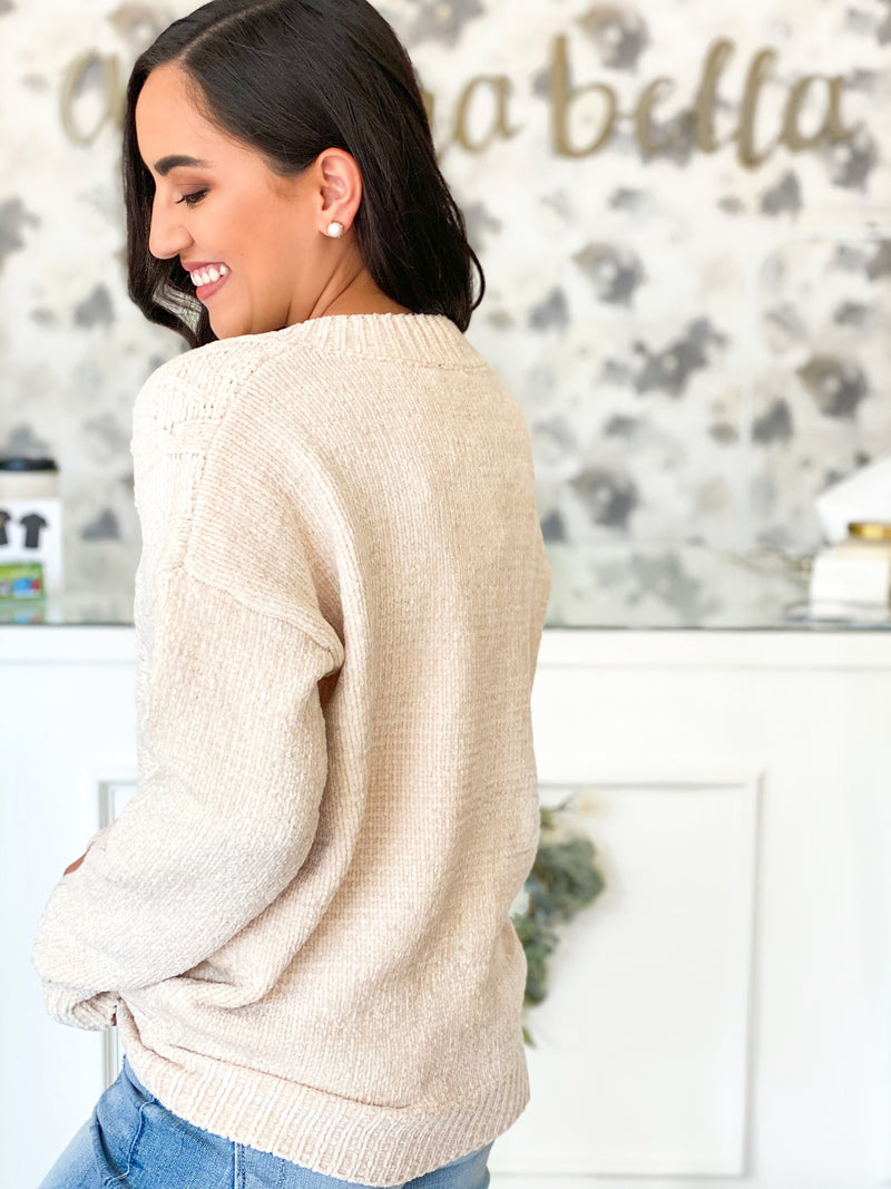 Falling For Cream Sweater