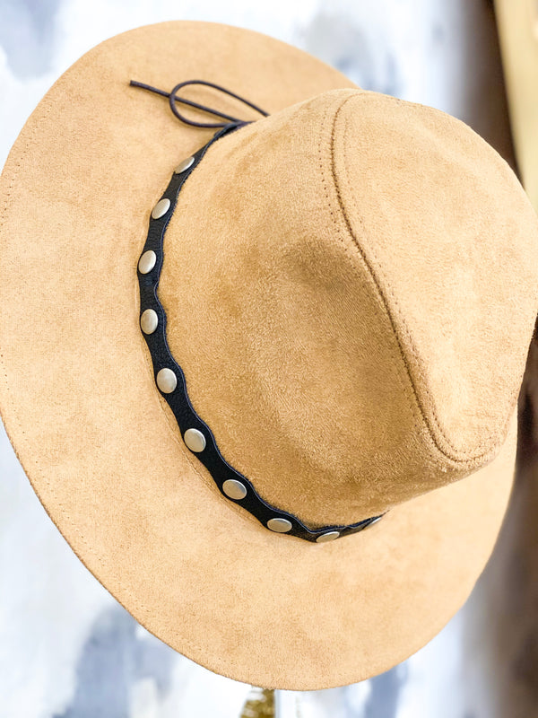 Studded Panama Hat
