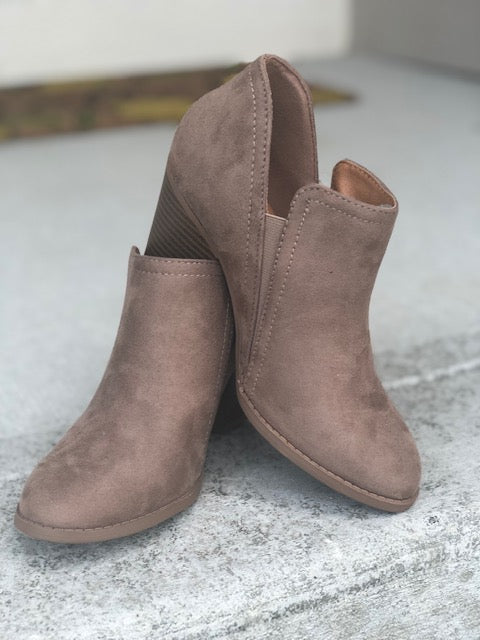 Ankle Booties - Taupe