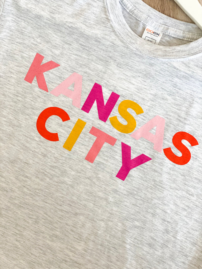 KC Colorblock Tee - Vintage White
