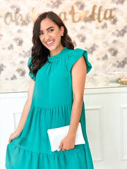 Summer Frill Dress- Jade