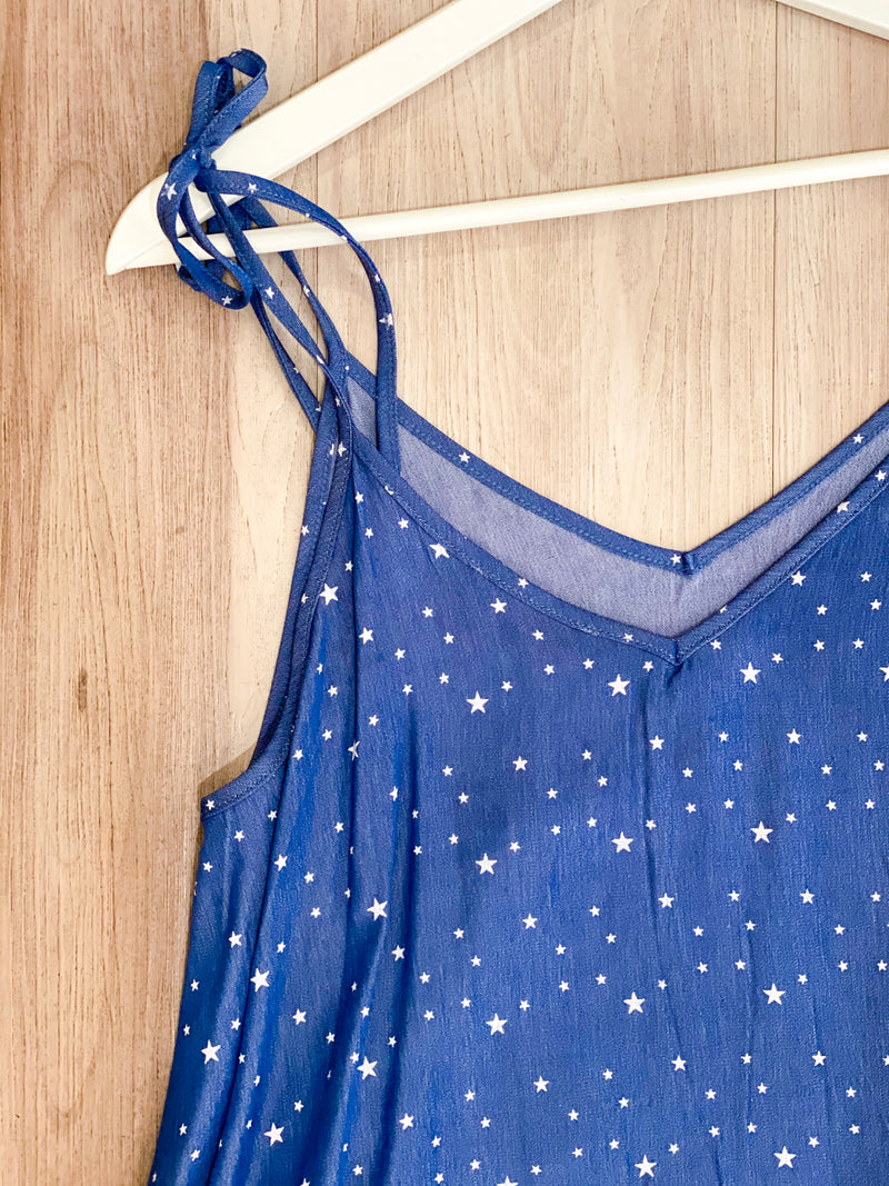 Star Chambray Cami - Blue