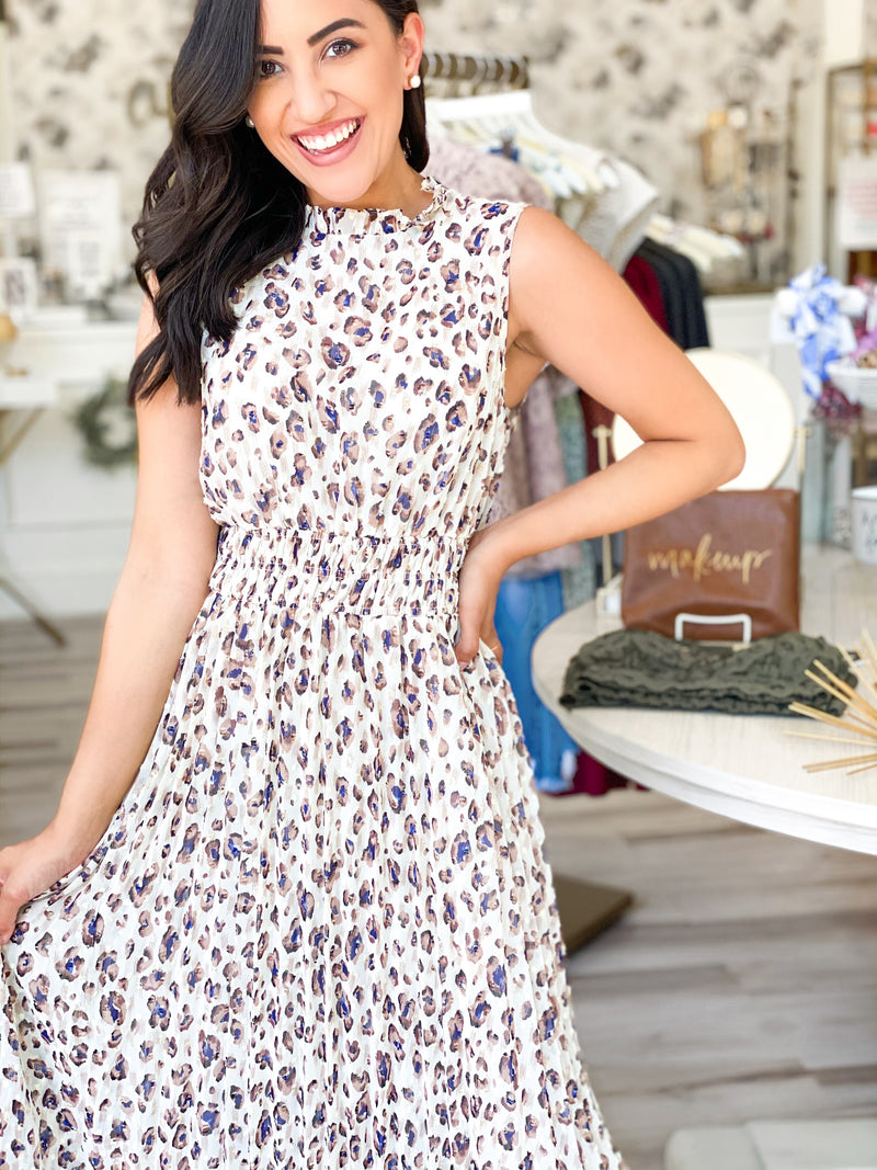 Swiss Dottie Leo Midi Dress