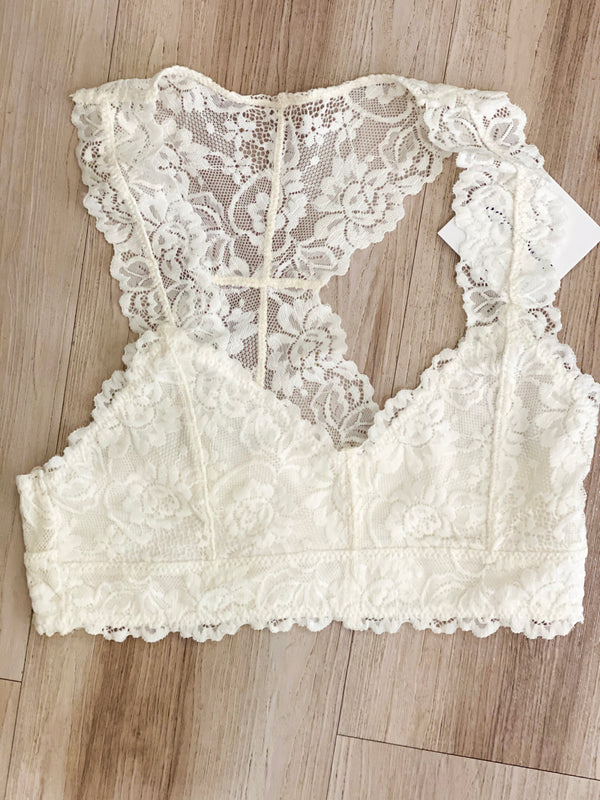 Sweetheart Bralette-White