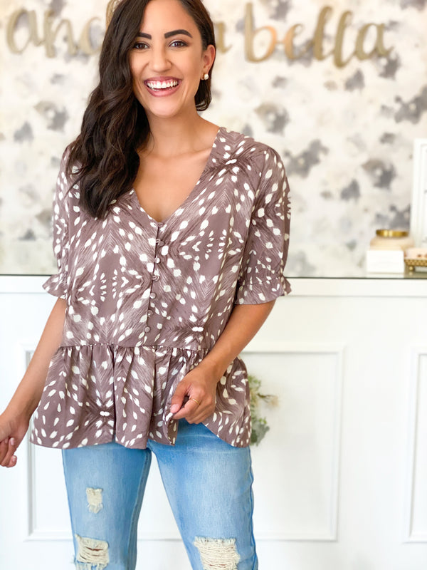 Dotted Dear Top