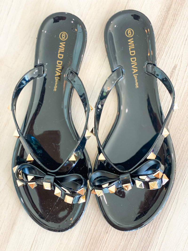 Joanie Sandals- Black