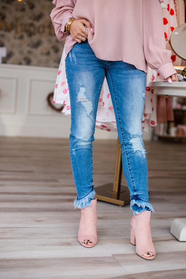 KC Distressed Tiered Hem - Med