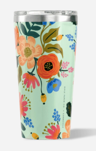 16oz Tumbler- Mint Lively Floral
