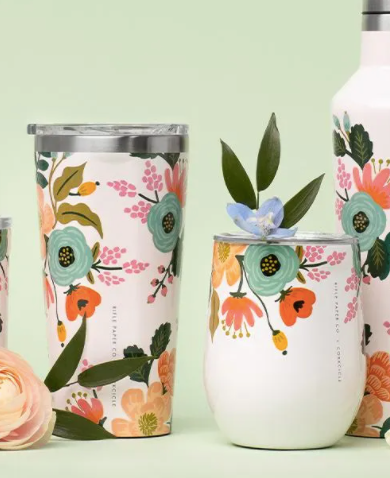 16oz Tumbler- Cream Lively Floral