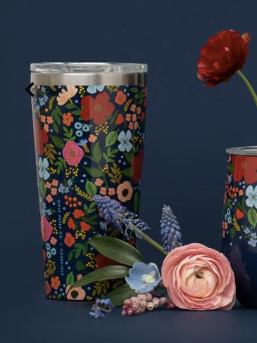 16oz Tumbler- Navy Wild Rose