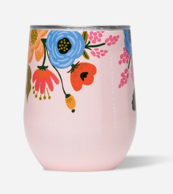 12oz Stemless- Blush Lively Floral
