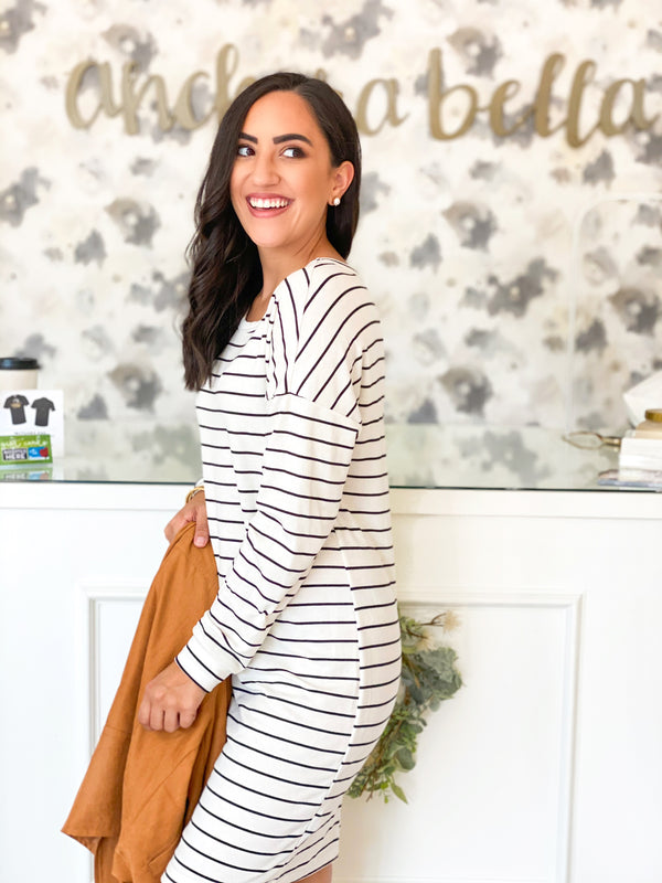 Allover Stripes Dress
