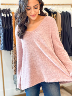 Comfort Sweater Top - Lavender