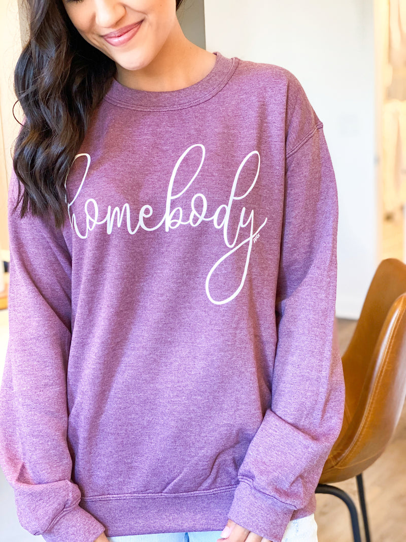 Homebody Sweatshirt - Burgundy