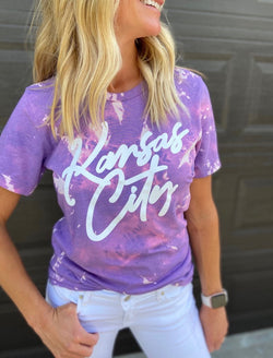KC Tie Dye Tee- Purple