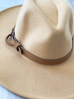 Dandy Wide Brim Hat- Lt. Khaki