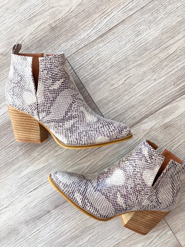 Abby Snake Booties
