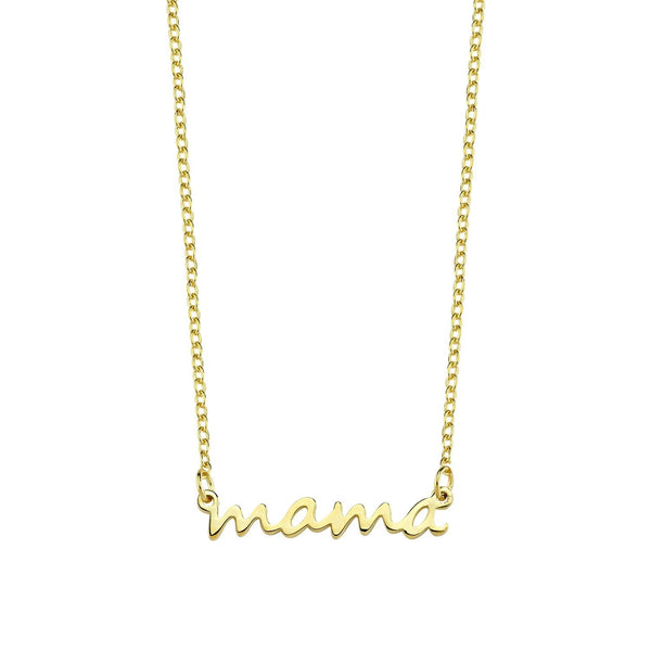 'Mama' Dainty Necklace- Gold