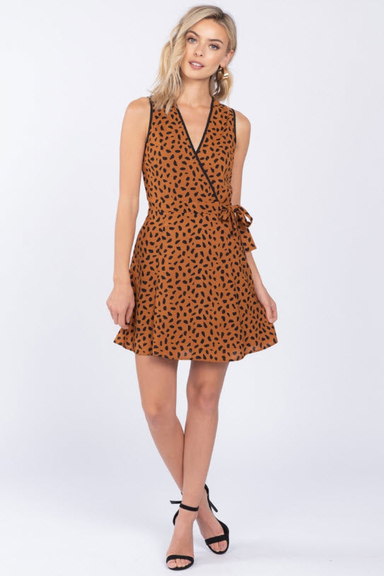 Miz Leo Wrap Dress