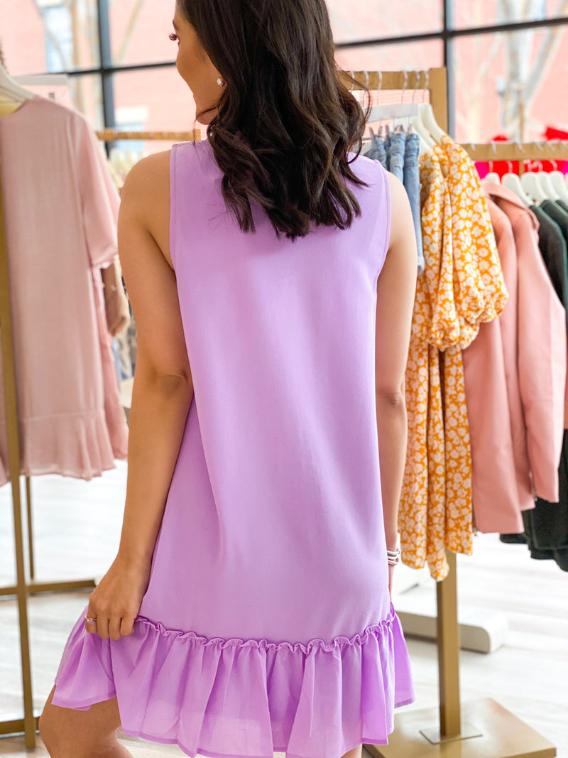 Perfect Pastel Dress - Lilac