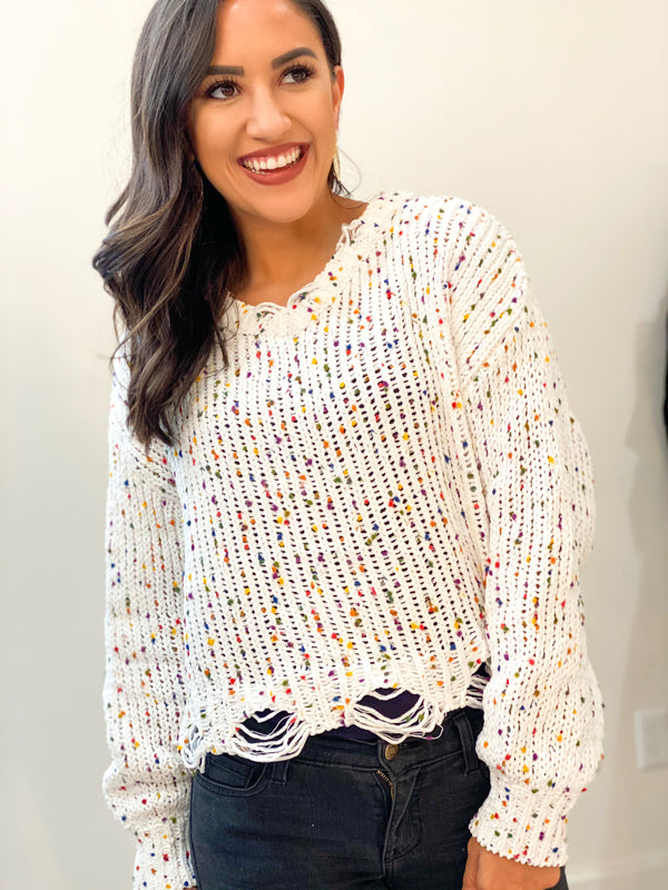 Rainbow Speckles Sweater