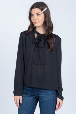 Romantic Tie Top - Black