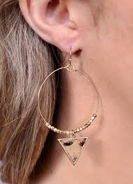 Stac Animal Triangle Earring