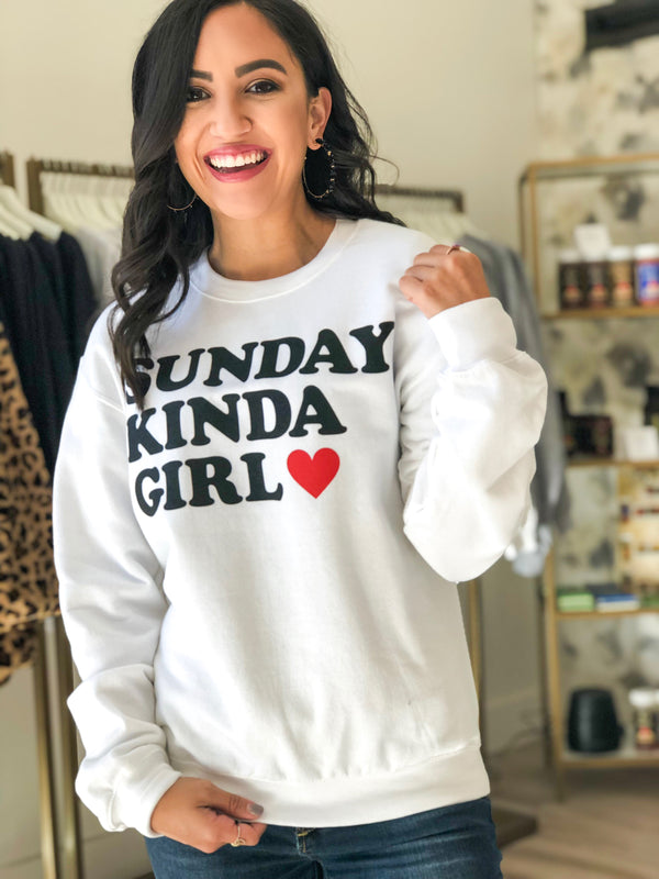Sunday Kinda Girl Sweatshirt