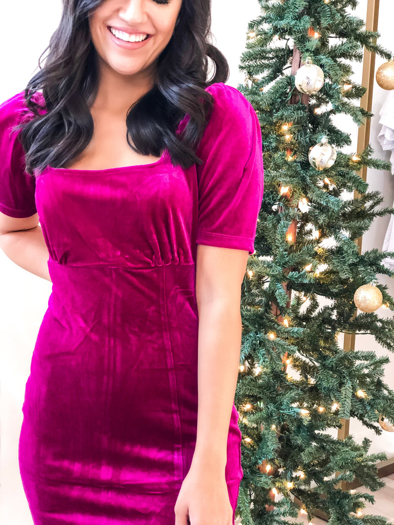 Velvetier Dress - Magenta