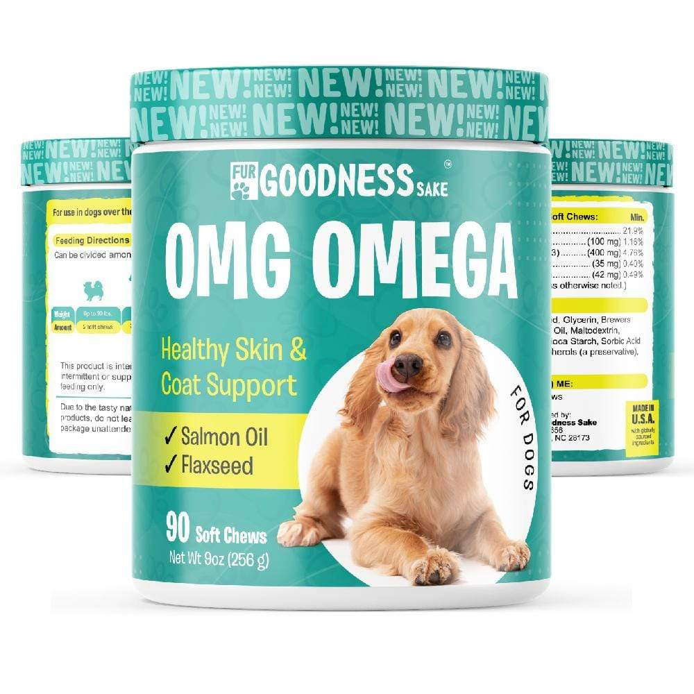 Fur Goodness Sake OMG Omega 3 Chews for Dogs