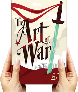 Hands holding Art of War