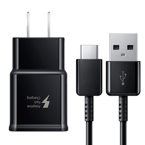OEM Samsung Fast Charging USB Wall Charger + USB Type-C Cable (Black)