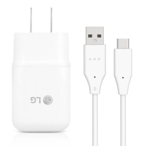OEM LG Rapid Charge USB Wall Charger + USB Type-C Cable