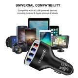 Universal 4-Port Fast Charging USB Car Charger