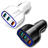 Universal 3-Port Fast Charging USB Car Charger