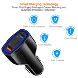 Universal 3-Port Fast Charging USB Car Charger (with Type-C Port)
