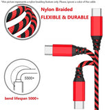 USB-C Type-C Striped Nylon Braided Fast Charging Data Sync Cable