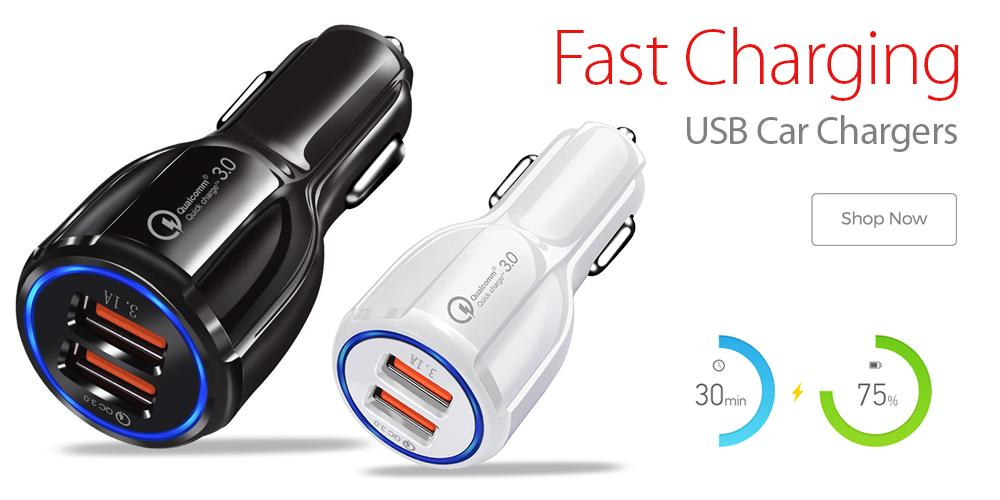Fast Charging Car Charger Adapters